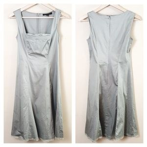 Adrianna Papell // Sage Green Cotton Shift Dress